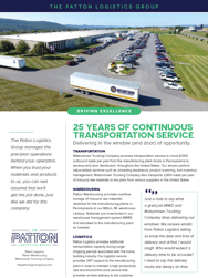 Preview of 25 Years of Continuous Transportation Service